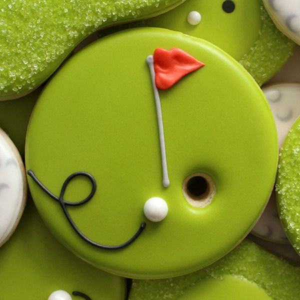 Easy to decorate golf cookies