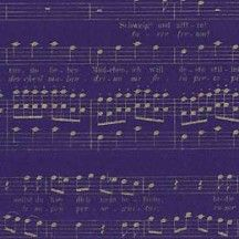 Dark Blue and Gold Mozart Music Print Italian Paper ~ Leonardo Communication
