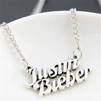 Wish | Fashion Exquisite Women Men Charm justin bieber Pendant Charm Silver Necklace