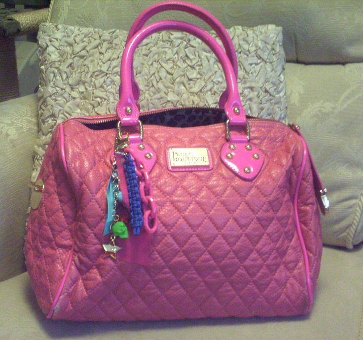 Pauls Boutique Genuine Pink Bag, Quilted with Keyring & Shoulder Strap