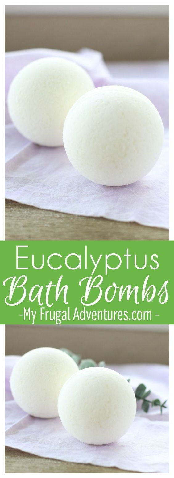 Simple eucalyptus bath bombs- perfect homemade gift for friends under the weather or relaxing sore muscles. #giftsforfriend