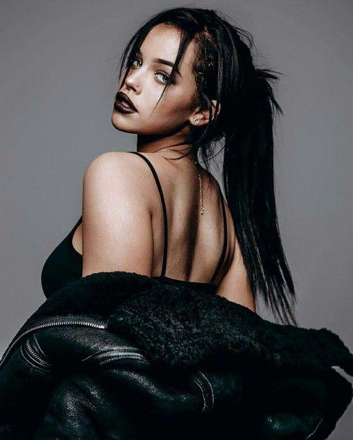 grafika girl, beauty, and black