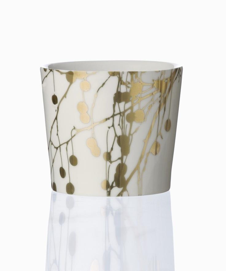 gold branches mug