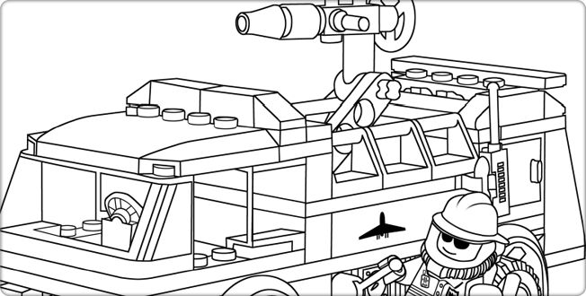 lego fire truck coloring page - photo #1