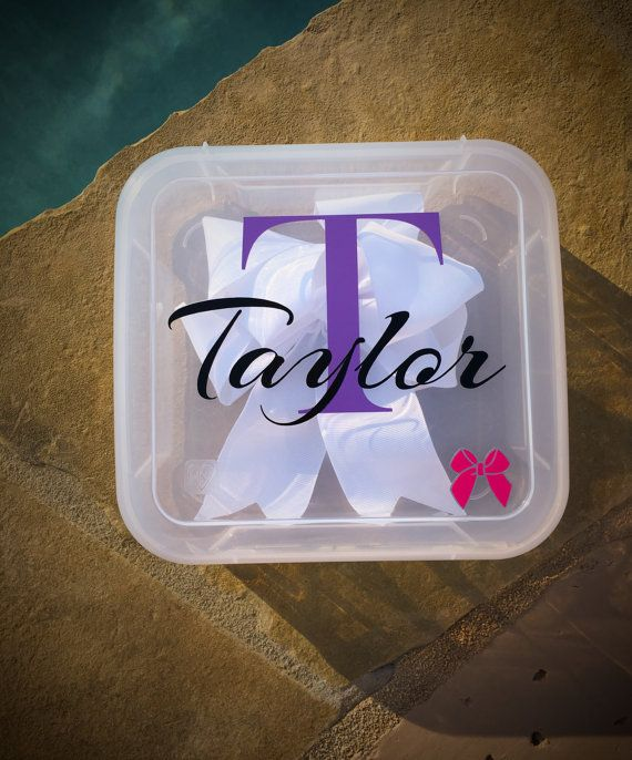 Cheer / Hair Bow Travel Case Personalized by CleverlyCreatedDsgns