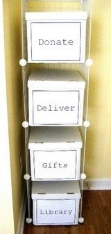 """Quick, easy and inexpensive solution to organizing items """"leaving"""" your home."""