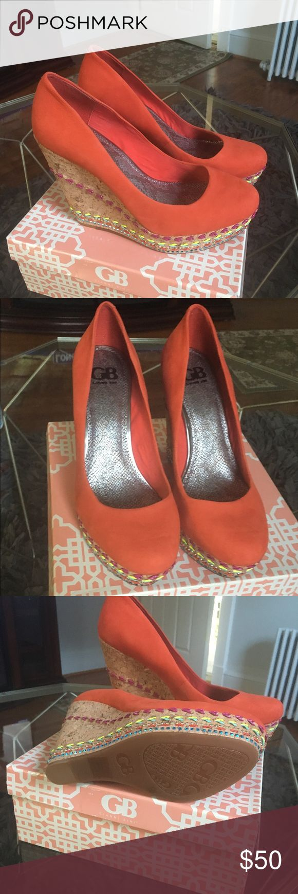 Shoes Orange Wedge heels Gianni Bini Shoes Wedges