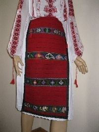 Antique Romanian traditional costume's aprons from Oltenia .  Available at www.greatblouses.com