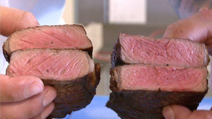 Wat gebeurt er wanneer je een stijfbevroren entrecote in een hete pan gaat bakken? Smaakt dat vlees nu eigenlijk beter of slechter dan een verse biefstuk?