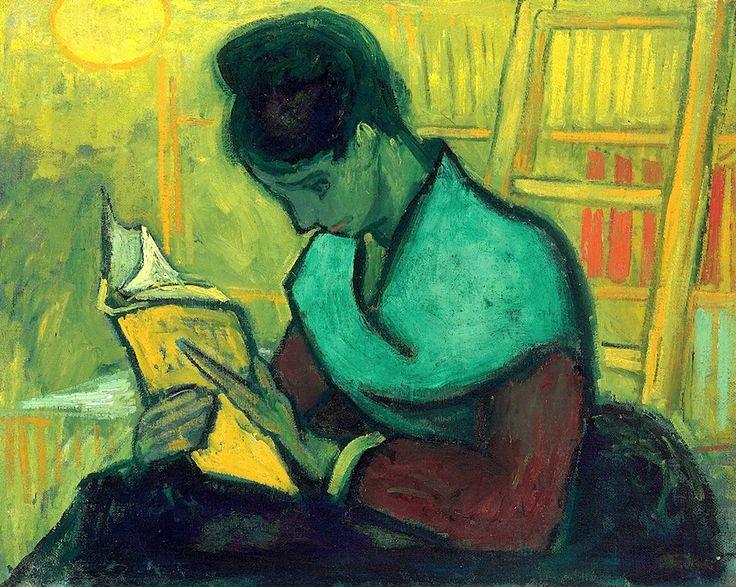 'Une liseuse de romans' by Dutch painter Vincent Van Gogh (1853-1890). via a long time alone