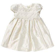 Купить Джон Льюис Lace Silk Крещение платье, крем Online на johnlewis.com