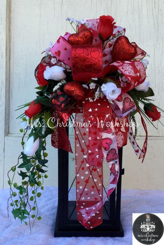 Valentine lantern swag Valentine's Day by MrsChristmasWorkshop
