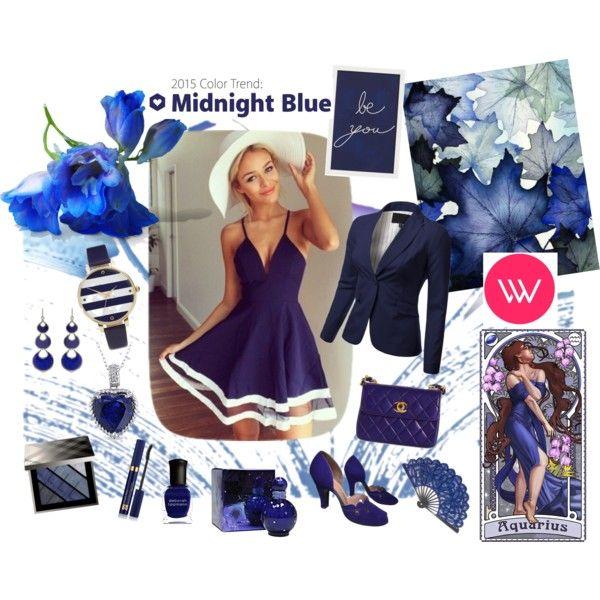Midnight Blue Dress by giovanina-001 on Polyvore featuring J.TOMSON, Chanel, ASOS, Annoushka, Miadora, Burberry, Estée Lauder, Britney Spears, Deborah Lippmann and Pottery Barn