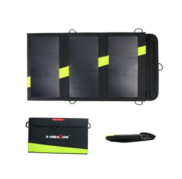 Cargador solar plegable 5V/20W para dispositivos USB móviles