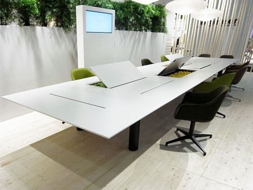 japanese office furniture. japanese designer naoto fukasawa has designed a versatile office table kuubo for swiss furniture company vitra here is some description by u201cin des d