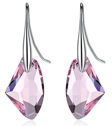 GoSparking Pendientes de plata esterlina con el cristal austriaco para las mujeres | Joyería online, joyas de Plata y Oro.