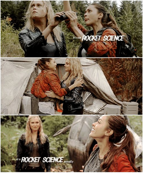 Clarke Griffin and Raven Reyes    The 100    Princess Mechanic    Eliza Jane Taylor and Lindsey Morgan