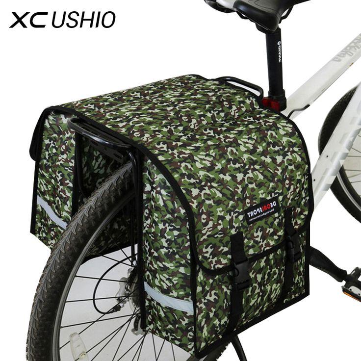 Большой размер 35 * 32 * 14 см, контейнерная двухсторонняя сумка на багажник велосипеда, водонепроницаемая походная сумка на заднюю стойку велосипеда, сумка-контейнер