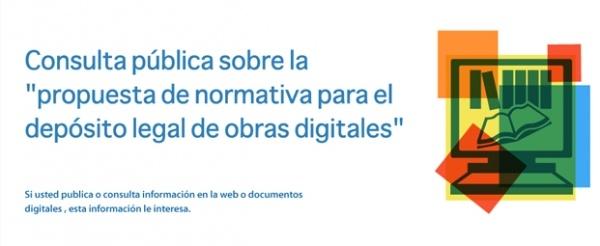 Consulta pública sobre el depósito legal de obras digitales en Colombia.