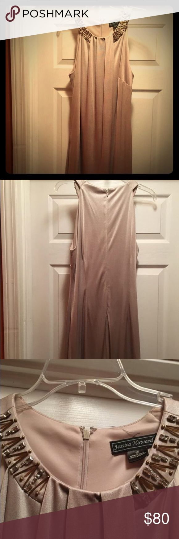 Formal dress Beautiful nude formal dress. Only worn once to a wedding. Dresses Wedding