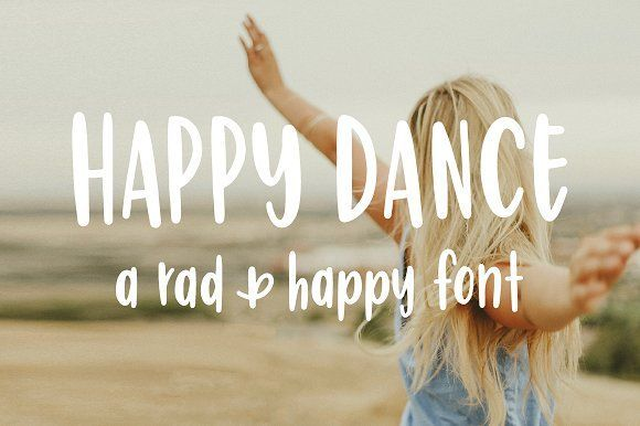 Happy Dance | Hand Lettered Font by Rad And Happy on @creativemarket