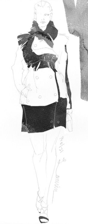 Today's Drawing 150214. The sample photo via internet. Lanvin 2014/FW/Pre