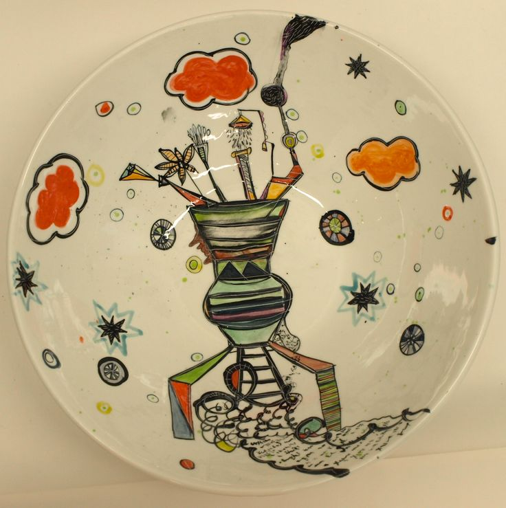Vanessa Anastasopoulou, ''Dream machine' , 40X13 cm bowl