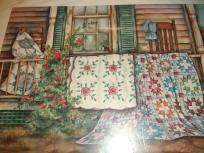 Quilting Themed print by: Paula VaughanCrosses Stitches Paula, Crafts Ideas, Theme Prints, Pin Quilt, Vaughn Crosses, Paula Vaughn, Stitches Paula Vaughan, Quilt Theme, Quilt Fabrics