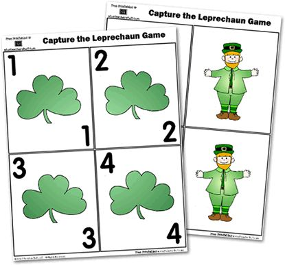 Capture the Leprechaun Game {free printable}