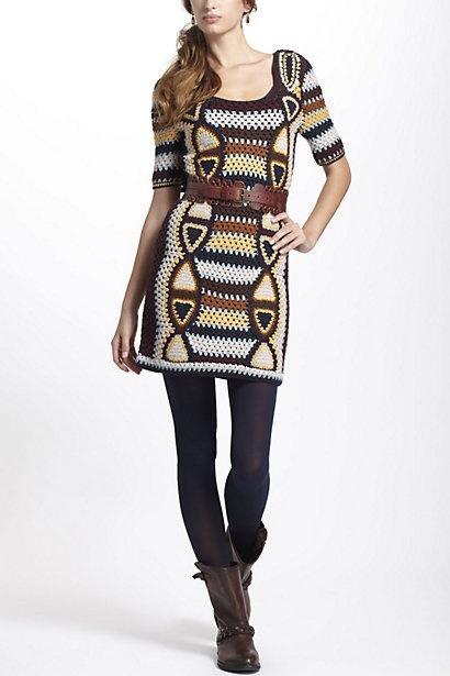 Medallion Sweater Dress #anthropologie