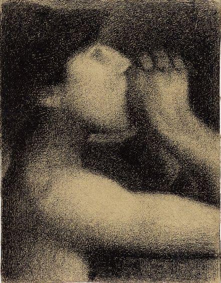 Georges Seurat - Study for Bathers at Asnières (known as The Echo), 1883, Conté crayon - 31.2 x 24 cm