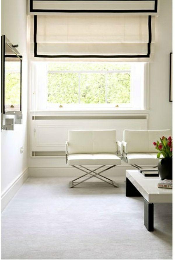 Die besten 25+ Raffrollo weiß Ideen auf Pinterest Vorhänge küche - moderne raffrollos wohnzimmer