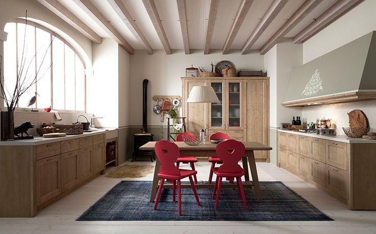 Cucina tabi by scandola basi e colonne cucina abete - Cucine in abete ...