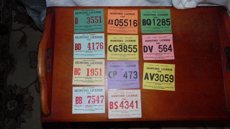 Ohio Hunting License Tags 1960 -1970 (11)