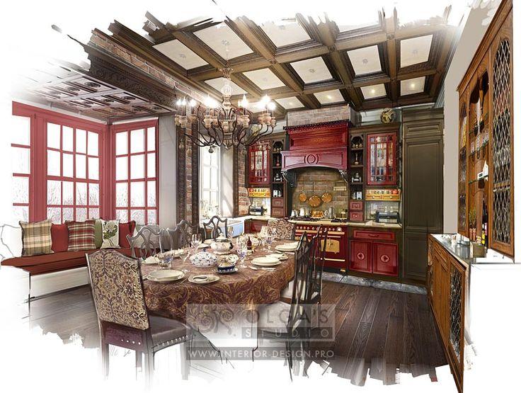 Дизайн кухни в стиле кантри http://interior-design.pro/ru/blog/dizayn-kuhni-stil-kantri-foto.php