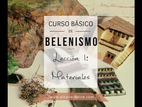Curso básico de belenismo - LECCIÓN 1: Materiales - YouTube
