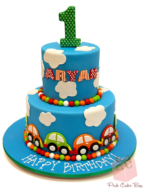 Aryan's First Birthday Cake.  Happy Birthday Aryan!