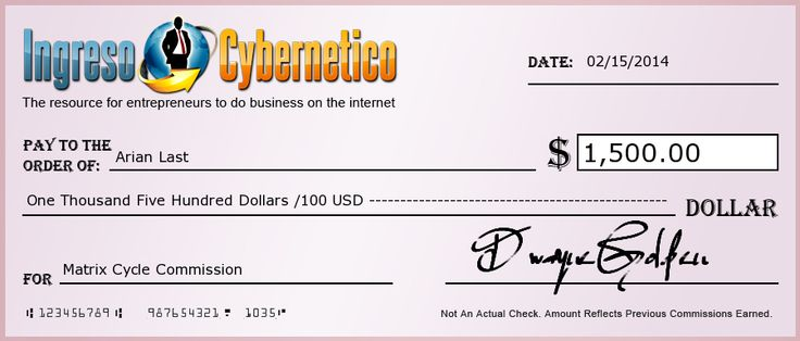 And Again Another Nice Cheque. this is from my sponsor!! i just started and cant wait till get my paychecks!!