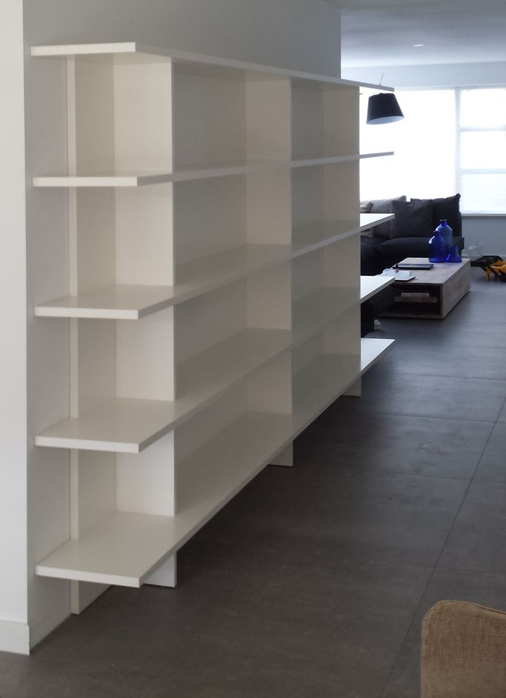 zwevende boekenkast op maat ideeà n voor het huis pinterest