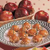 These Caramel Apple Bites would be a delicious appetizer for a party! Recipe at Cooking.com