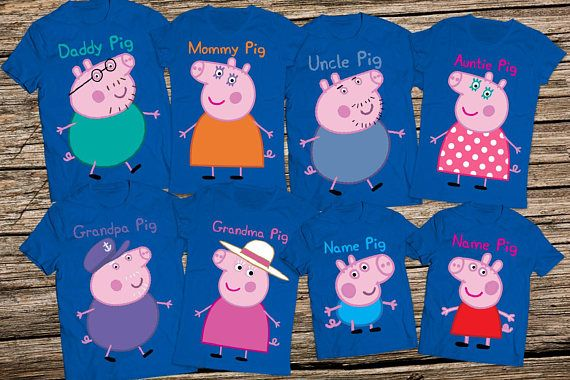 Peppa pig family shirts, Daddy pig shirt, Peppa pig birthday shirt, Mommy pig shirt, Peppa pig shirts, Mommy and me pig shirts, Pig shirt   HOW TO ORDER Choose family members from filter menu Mention T-shirt sizes (ages for kids) at the note section when you add to cart the