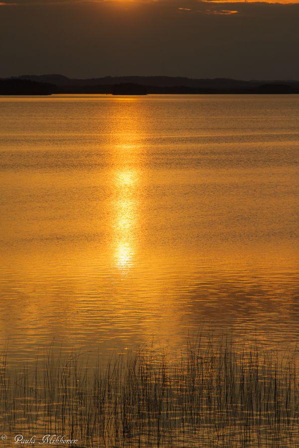 Auringonlasku Pankajärvellä 2014 Kuvaaja Paula Mikkonen