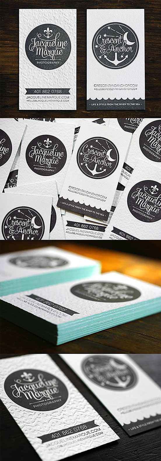 Textured Edge Business Cards