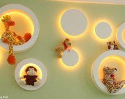 Kit de nichos com iluminação de led.