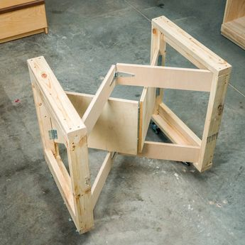 Build this handy mobile workbench that folds up to only 7 in. You only need two hours, some 2x4s, 3/4-in. plywood and 8' of 1x4.