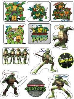 Stickers, Ninja Turtles, Stickers - Free Printable Ideas from Family Shoppingbag.com