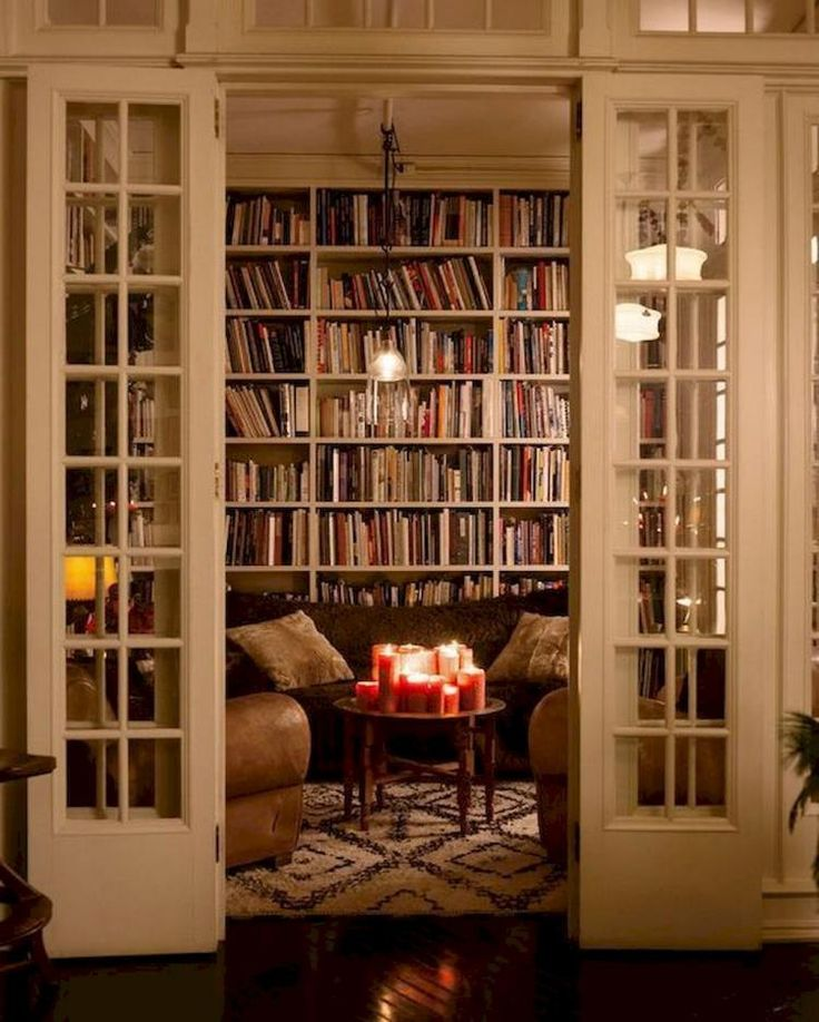 40 Super Ideas for Your Home Library with Rustic Design