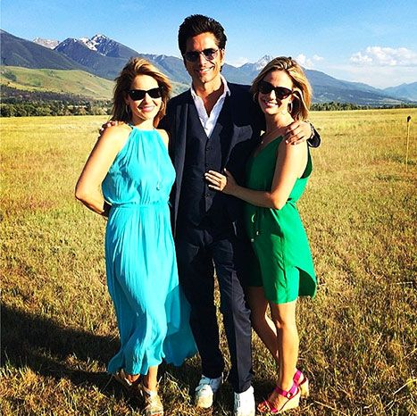 Full House's Uncle Joey, Dave Coulier, got married Wednesday, July 2, and his former costars were there to celebrate the nuptials. In this pic, John Stamos, Andrea Barber and Candace Cameron Bure smile at the Montana wedding.