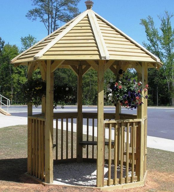 Free Plans to Help You Build a Wooden Gazebo: Octagonal Gazebo Plan from BuildEazy