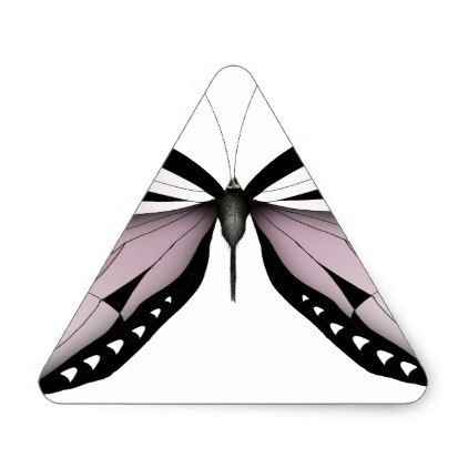Pink Butterfly Greater Mountain Pink Triangle Sticker - craft supplies diy custom design supply special